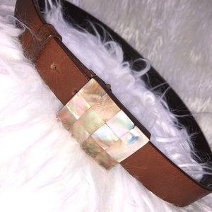Leather belt by Oscar de la Renta